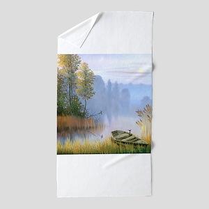 Lake Painting Beach Towel