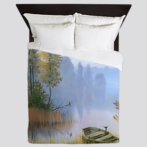 Lake Painting Queen Duvet