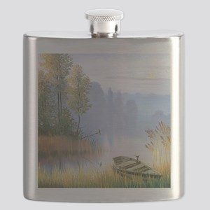 Lake Painting Flask