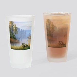 Lake Painting Drinking Glass