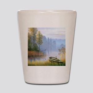 Lake Painting Shot Glass