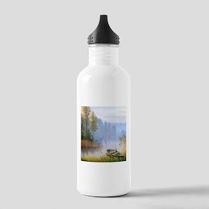 Lake Painting Water Bottle