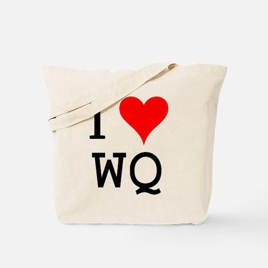 I Love WQ Tote Bag