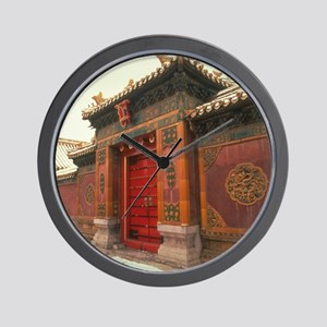 Beijing,forbidden city china Wall Clock