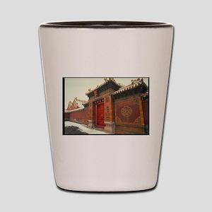 Beijing,forbidden city china Shot Glass