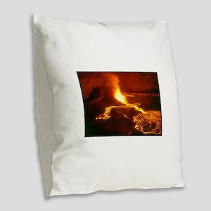 kilauea gifts Burlap Throw Pillow