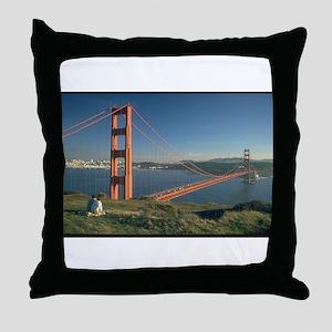san franciso golden gate bridge gifts Throw Pillow