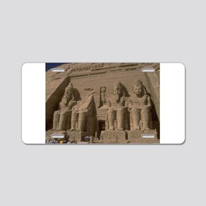 rock temple ramses gifts Aluminum License Plate