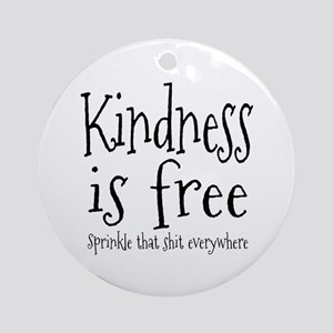 Sprinkle Kindness Ornament (Round)