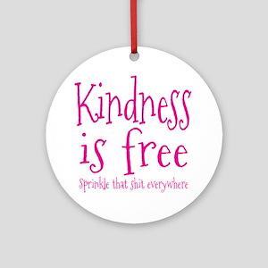 Sprinkle Kindness Pink Ornament (Round)