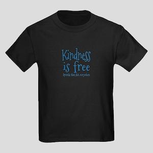 Sprinkle Kindness Blue Kids Dark T-Shirt