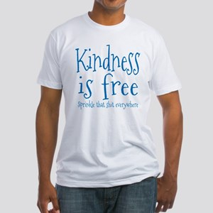 Sprinkle Kindness Blue Fitted T-Shirt