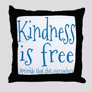 Sprinkle Kindness Blue Throw Pillow