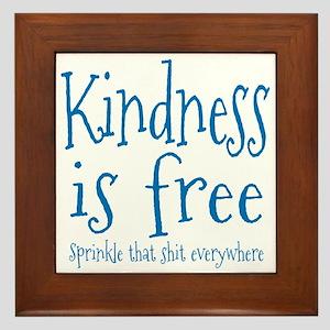 Sprinkle Kindness Blue Framed Tile