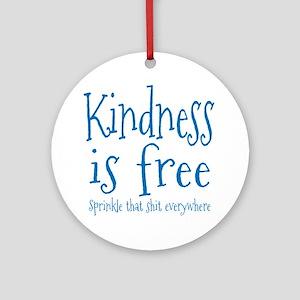 Sprinkle Kindness Blue Ornament (Round)