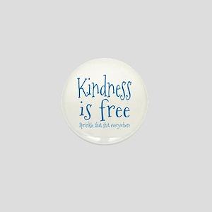 Sprinkle Kindness Blue Mini Button