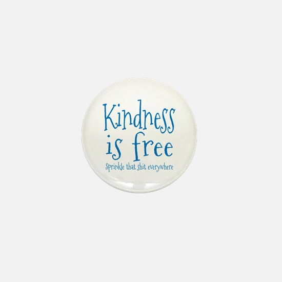 Sprinkle Kindness Blue Mini Button