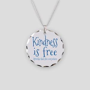 Sprinkle Kindness Blue Necklace Circle Charm