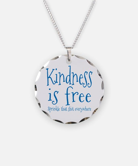 Sprinkle Kindness Blue Necklace