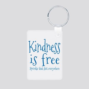 Sprinkle Kindness Blue Aluminum Photo Keychain