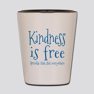 Sprinkle Kindness Blue Shot Glass