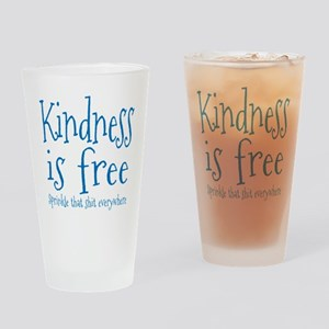 Sprinkle Kindness Blue Drinking Glass