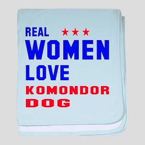 Real Women Love Komondor Dog baby blanket