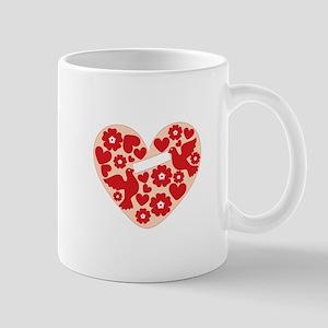 Floral Heart Mugs
