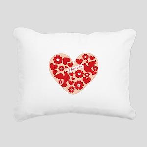 I Love You Rectangular Canvas Pillow