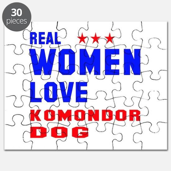Real Women Love Komondor Dog Puzzle