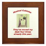 Musical Cubicles Framed Tile