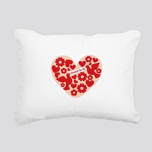 Meant To Be Rectangular Canvas Pillow