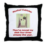 Musical Cubicles Throw Pillow