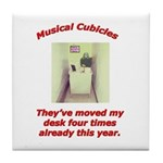 Musical Cubicles Tile Coaster