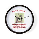 Musical Cubicles Wall Clock