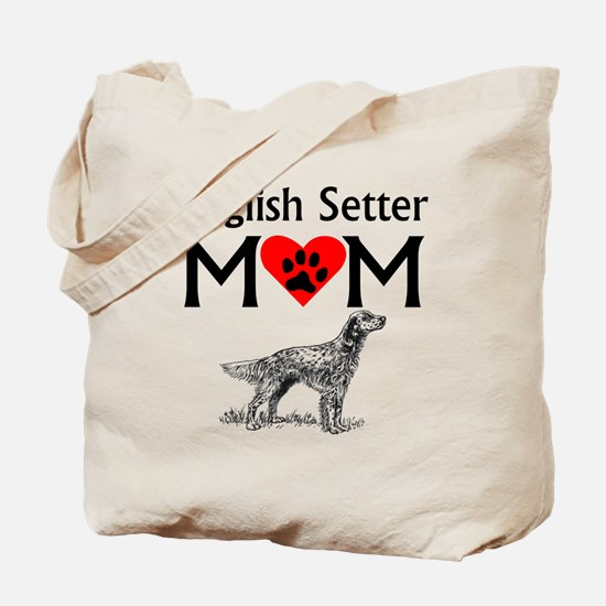 English Setter Mom Tote Bag