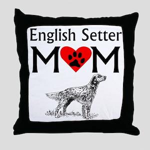 English Setter Mom Throw Pillow
