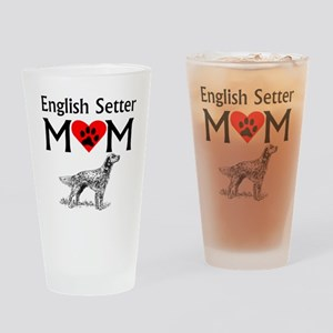 English Setter Mom Drinking Glass