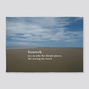 Fernweh Travel Quote 5'x7'Area Rug