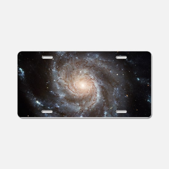 spiral galaxy gifts Aluminum License Plate