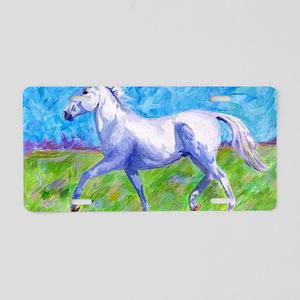 Trotting horse Aluminum License Plate