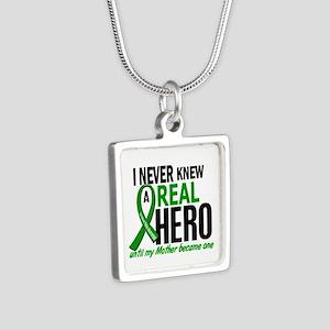 Cerebral Palsy Real Hero 2 Silver Square Necklace