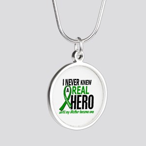 Cerebral Palsy Real Hero 2 Silver Round Necklace