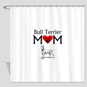 Bull Terrier Mom Shower Curtain