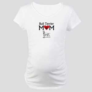 Bull Terrier Mom Maternity T-Shirt