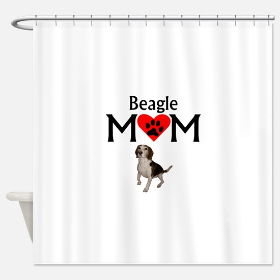 Beagle Mom Shower Curtain