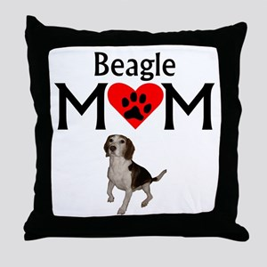 Beagle Mom Throw Pillow