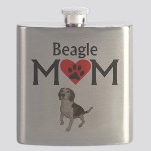 Beagle Mom Flask