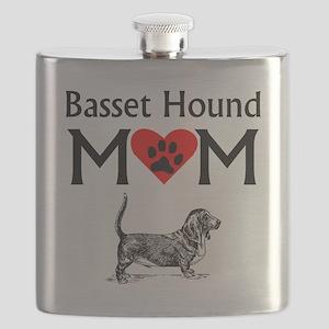 Basset Hound Mom Flask