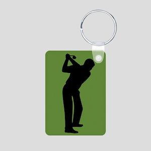 Green Golf Aluminum Photo Keychain